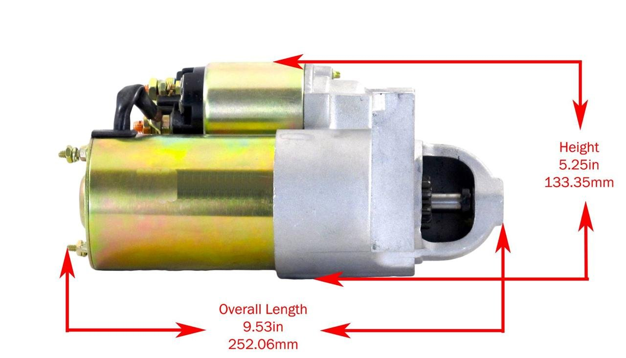 STARTER MOTOR FITS 84-96 OMC MARINE ENGINE 3.0L 4cyl 181ci 323-677 10096 30460 by Rareelectrical