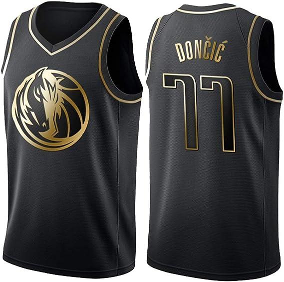 Camiseta de Baloncesto de los Hombres - NBA Dallas Mavericks # 77 Luka Doncic Mangas Transpirable Retro Deportes Camisetas Jersey: Amazon.es: Deportes y aire libre