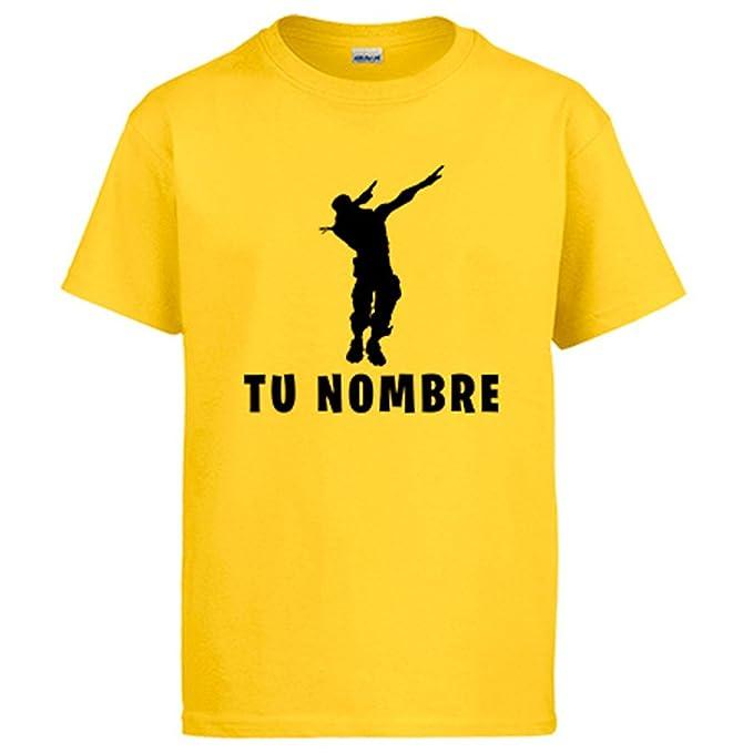 Camiseta Fortnite Pose Dab Personalizable con Nombre: Amazon.es: Ropa y accesorios