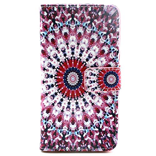 Galaxy S6 Case,Flower Printed Pattern Leather Wallet Flip Protective Skin Case Cover with Credit Card Holder For Samsung Galaxy S6 + Free Cleaning Cloth As a Gift,Not Fit For Samsung Galaxy S6 Edge