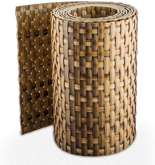 Rollo de paneles de ocultación de ratán 255 x 19 cm para dobles cercas metálicas, RD08- Stroh: Amazon.es: Jardín