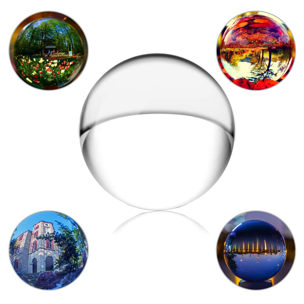 SunAngel 2 inch (50mm) Crystal Clear Crystal Ball Miniature Ornaments for Gifts House Decorati NCH Clear Crystal Ball for Feng Shui/Divination or Wedding/Home/Office Decoration - No Stand - (50MM)