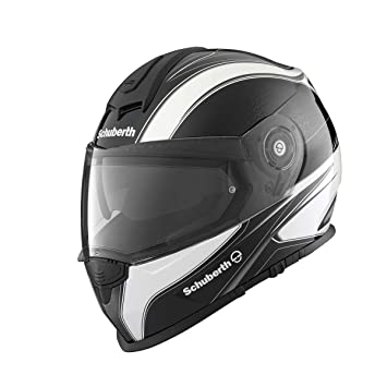 Schuberth S2 Sport Wave metal Moto Casco, negro-blanco