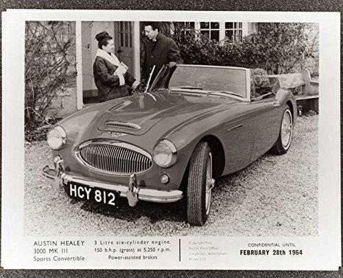 1964 Austin Healey 3000 Mark III Factory Photo from AutoLit
