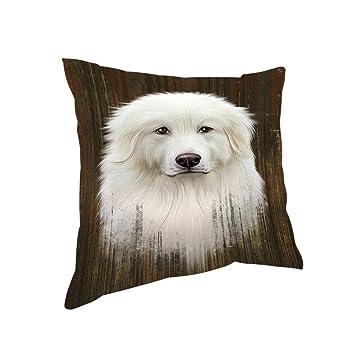 Amazon.com: Rústico Gran Pyrenee perro almohada pil58372 ...