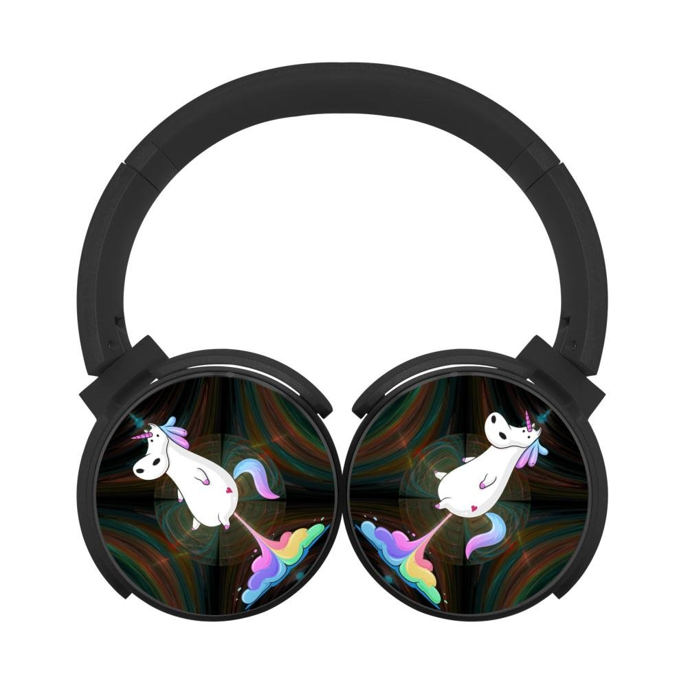 2018 New Style Unicorn Rainbow Fart Active Noise Cancelling Headphone with Hi-Fi Deep Bass Wireless Bluetooth Headphones Unicorn Rainbow Fart IEUCBK