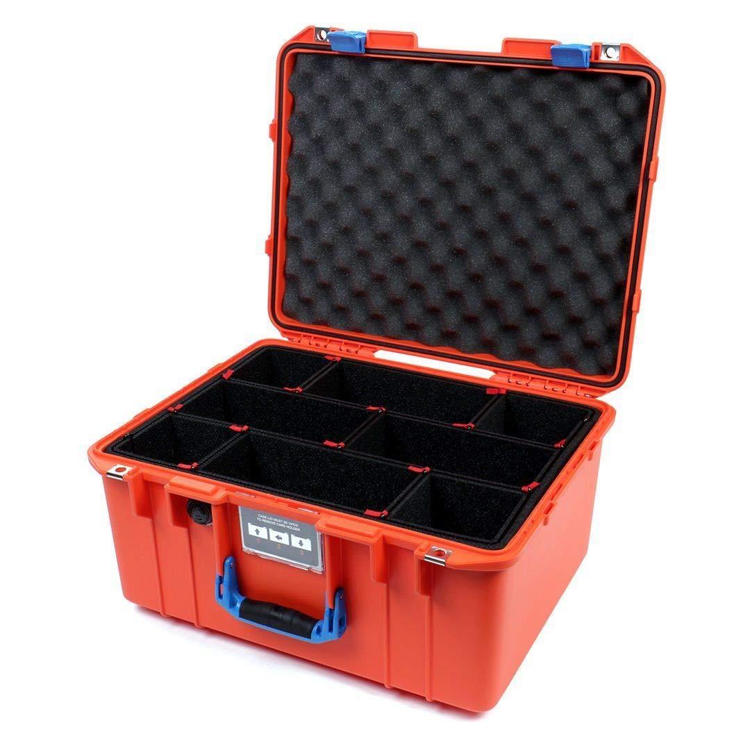 ペリカン オレンジ & ブルー 1557 TrekPak仕切り付き - エアケース B07K9H7RS2