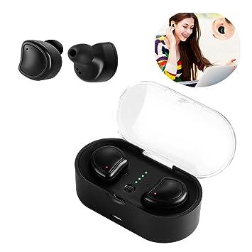 FORNORM Verdadero Auricular Inalámbrico Bluetooth, Auriculares Inalámbricos Estéreo Audífonos Con Caja De Carga, Reducción