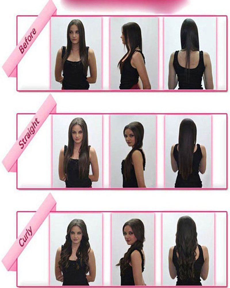 Amazon 30 Inches Straight One Piece Clip In Hair Extensions