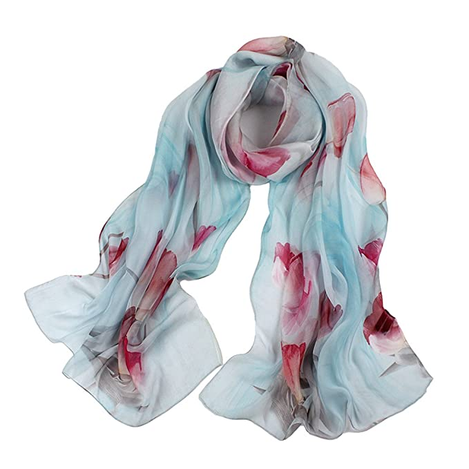 d1033e6aa Womens 100% Mulberry Silk Head Scarf For Hair Ladies Silk Scarf Gift for  Valentine's Day