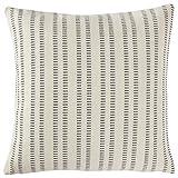 Stone & Beam French Laundry Stripe Pillow, 17'' x 17'', Ivory, Grey