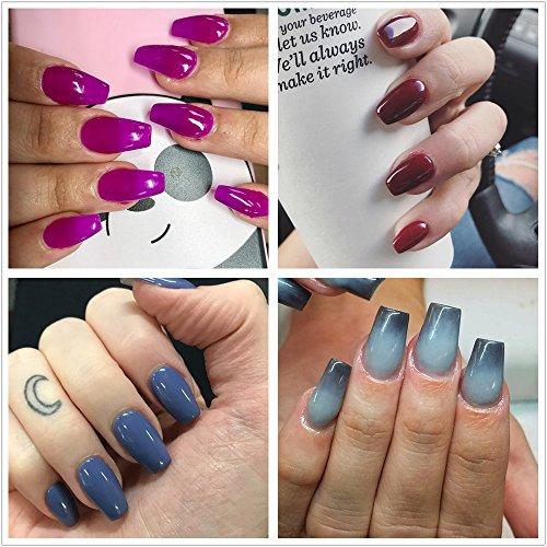Ecbasket Acrylic Nail Tips Natural Fake Nails Short Oval: ECBASKET 500Pcs Coffin Nails Short Fake Nails Acrylic Nail