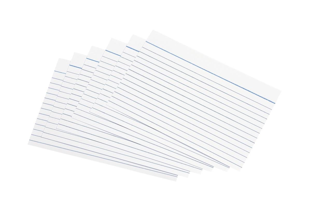 5 Star Record Cards Ruled Both Sides 6x4in 152x102mm White [Pack of 100] OfficeCentre 502578