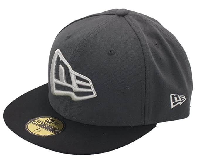 New Era Cap - 59Fifty Flag Dark Graphite Black Grey  Amazon.co.uk ... 749f4266a