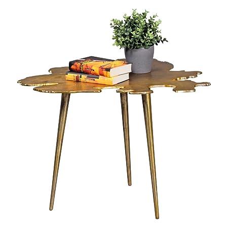 KadimaDesign Mesa de café Diseño de la Hoja de Oro trípode Mesa de ...