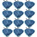 12 Pack H20 T1 Heavy Duty Deluxe Coral Microfiber Pads for Steamboy Mop