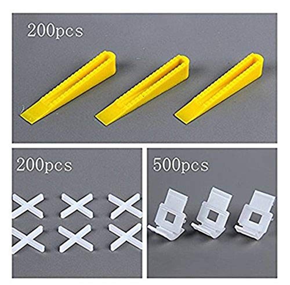 Good news New 900 Tile Leveling System 500 Clips + 200 Wedges Tile Leveler Spacers +200 positioning crosses