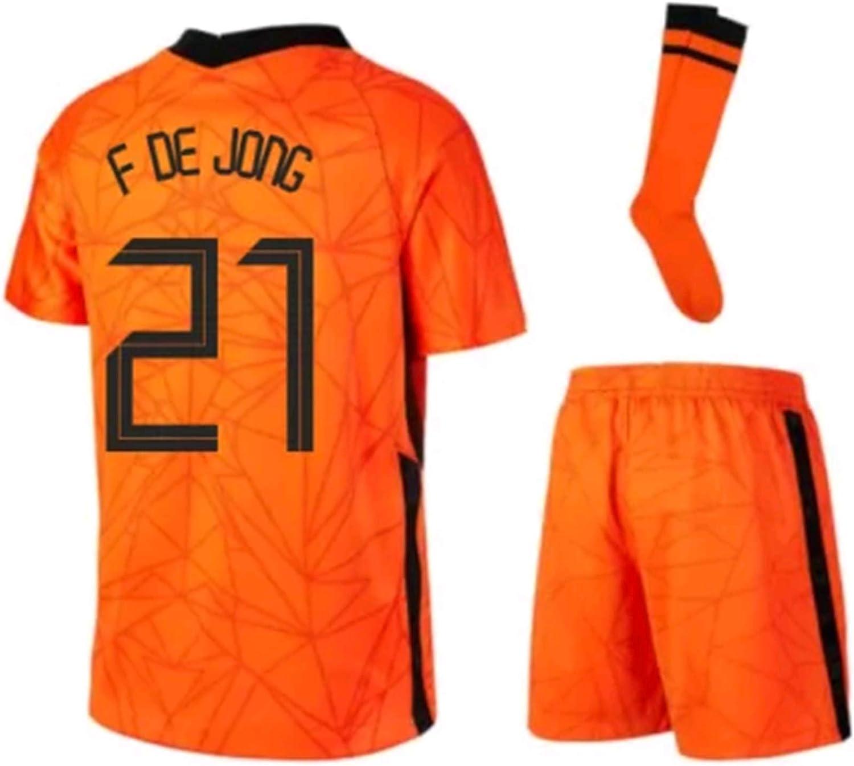 LISIMKEM 2020-2021 Kids/Youths Home Soccer Jersey/Short/Socks Colour Orange
