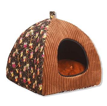 CHENYAJUAN Perro De La Casa Cubierta Extraíble Invierno Mat Camas para Perros Pequeños Perros Medianos Casa Productos Pet Pet Individuales,M: Amazon.es: ...