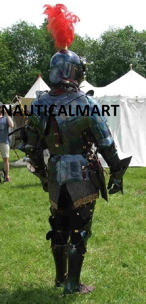 NauticalMart Italian Medieval Armor Wearable Full Suit Of Armor Halloween Sculpture