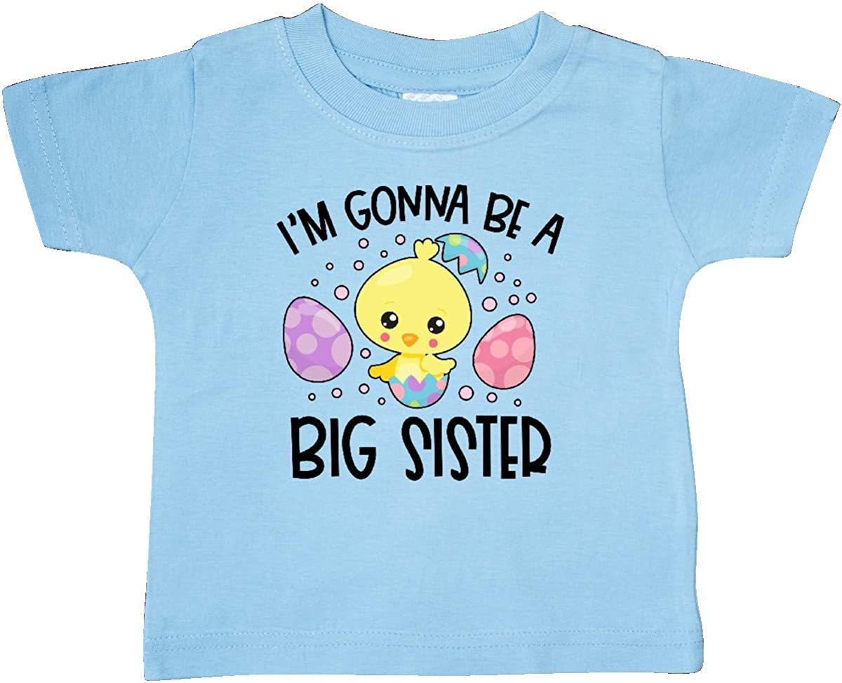 inktastic Easter Im Gonna Be a Big Sister with Purple and Pink Baby T-Shirt
