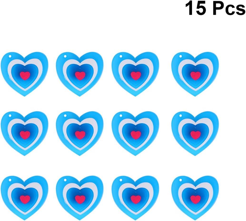 Amosfun Amour Coeur Allumer Broche goupille Saint Valentin LED Clignotant Broche Costume Accessoires pour Mariage f/ête de Saint Valentin f/ête Favors 15pcs