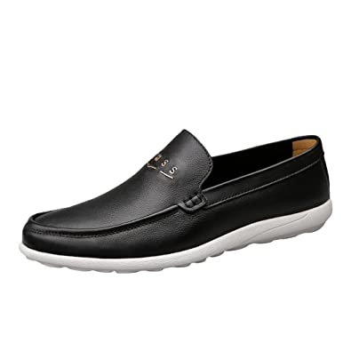 Men's Leather Casual Fashion Lightweight Slip On Loafer Shoes