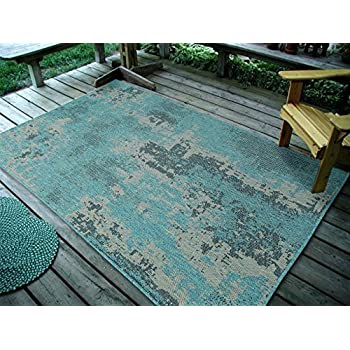 "Furnish my Place DESIGN1126 Ocean 45"" X7 Area Rugs"