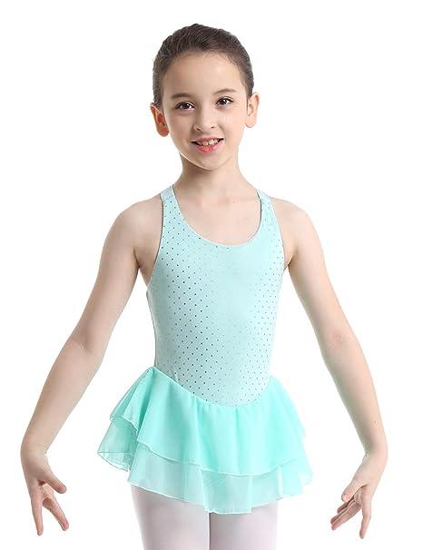 MSemis Vestido Patinaje Artístico para Niñas Maillot Danza Ballet ...