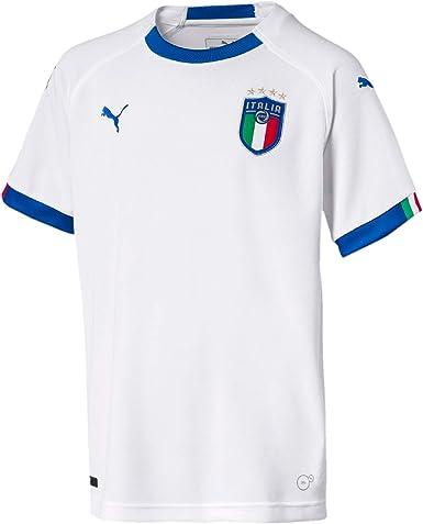 PUMA FIGC Italia Kids Away Replica SS - Camiseta Niños: Amazon.es ...