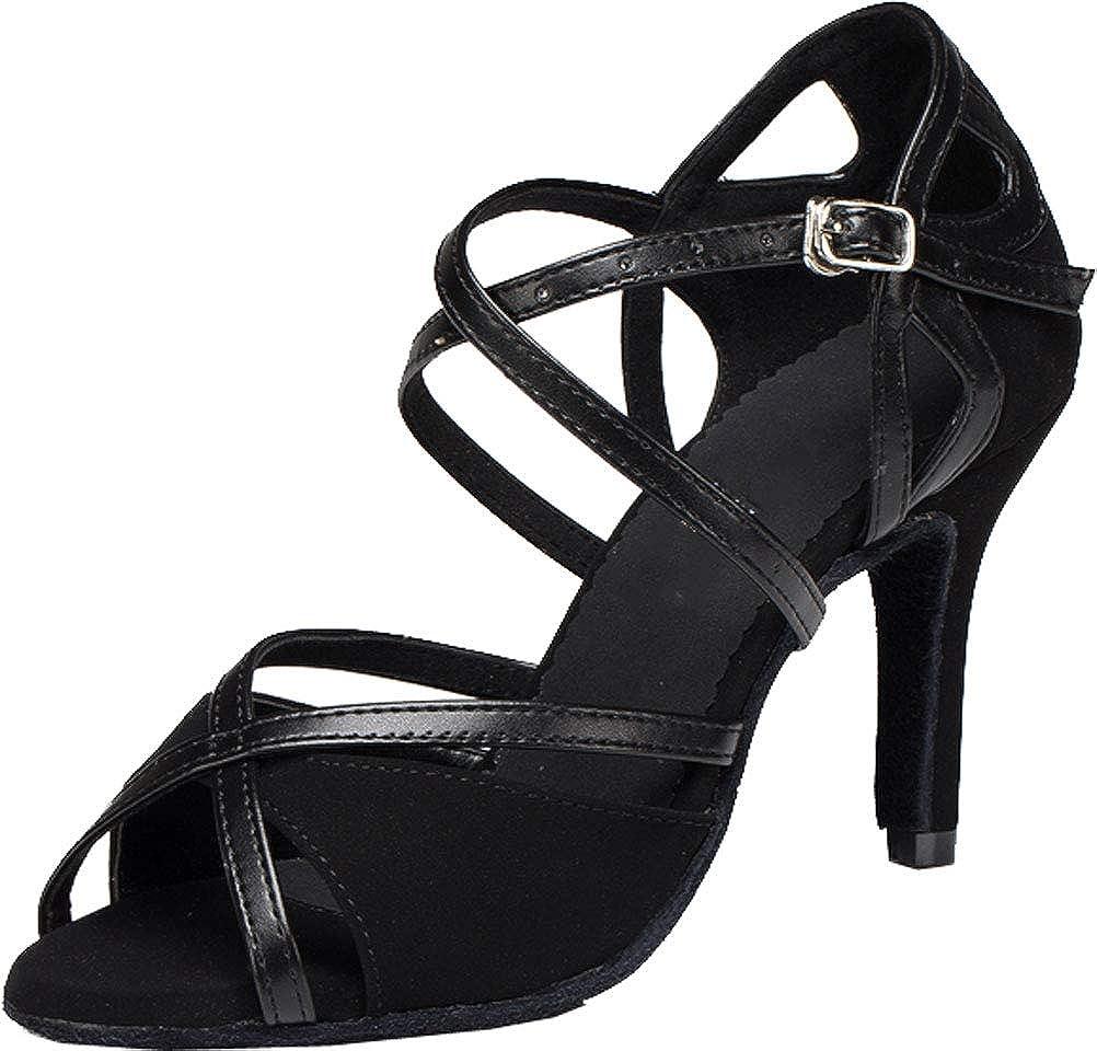 3IN Womens Latin Dance Bride Ballroom Shoes Tango Cha-cha Salsa Prom T-Straps 0023 Black US Size10