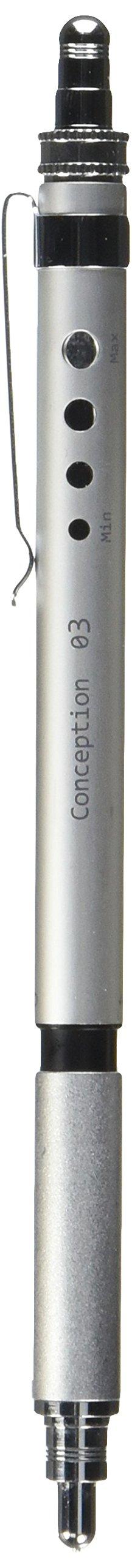Ohto lápiz mecánico Concepción 0,3mm plata...
