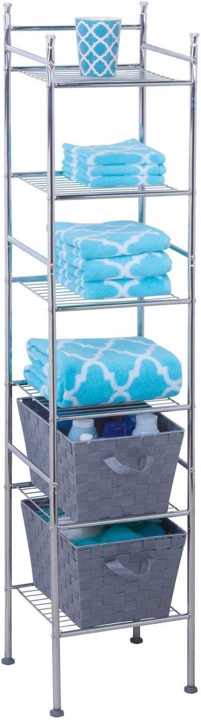 12.6 x 11.02 x 59.84, Honey-Can-Do BTH-03484 6 Tier Metal Tower Bathroom Shelf