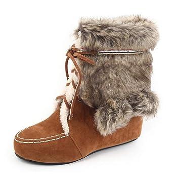 Botas de nieve Ugg de cuña para mujer Botas / Botas cálidas para interiores Aumento de
