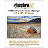 8.5 X 11 Cold Press Watercolor Fine Art Inkjet Paper 300gsm 50 Sheets