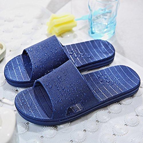 fugas zapatillas azul baño de interiores y casa cool de nbsp;Las de femeninos agua plástico par oscuro 44 minimalista verano antideslizante de zapatillas quedarme baño 43 un Fankou masculinos planas Sqp7OSt
