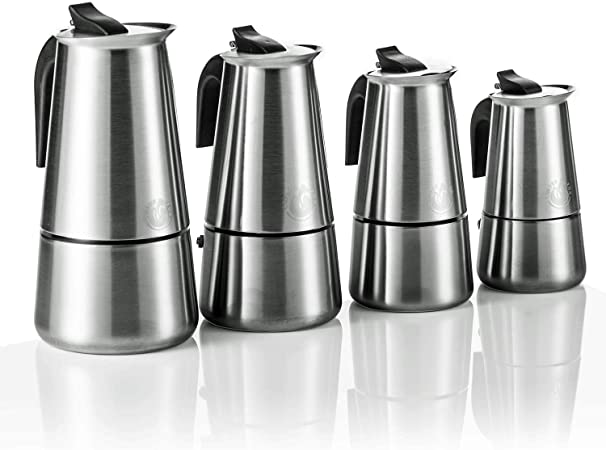 Coffee Fox Espresso Hervidor de acero inoxidable – Cafetera de ...