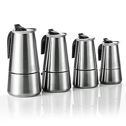 Coffee Fox Espresso Hervidor de Acero Inoxidable - Cafetera ...