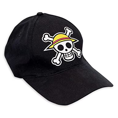 Amazon.com  Close Up One Piece Baseball Cap - Logo Pirate Skull Black   Clothing 75109b80f51