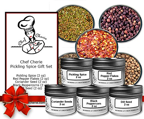 Chef Cherie's Pickling Spice Gift Set - Contains 5 2 oz. Tins