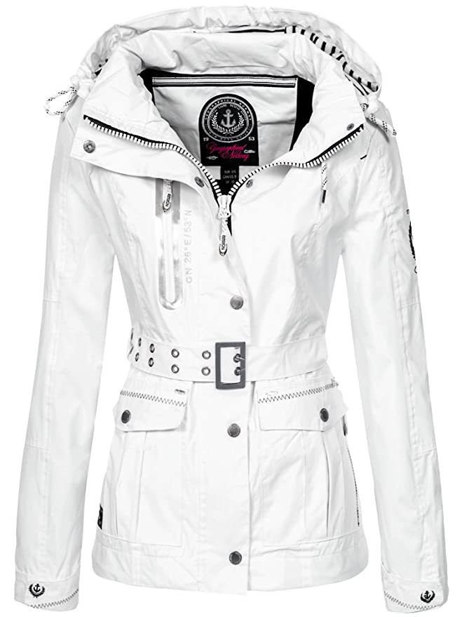 Geographical Norway Womens Spring Jacket With Removable Hood