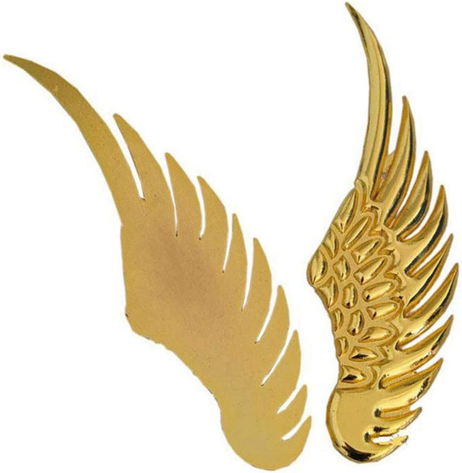 Sliver 2pcs 3D Angel Wings Emblem Auto Car Badge Decals Styling Logo Stickers Motorcycle Accessories Label for Jeep Dodge Mercedes BMW Mustang Volvo Chevrolet Nissan Audi VW Ford Honda Toyota Jaguar Decorative Accessories