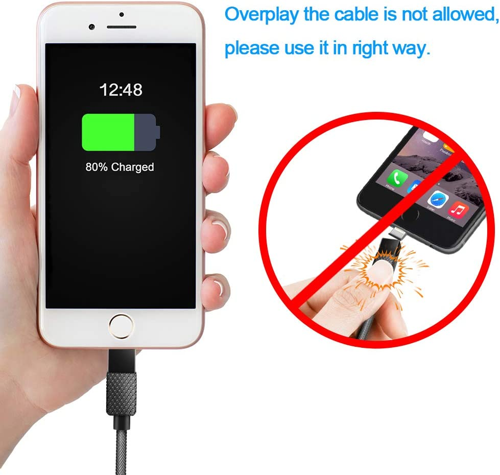6//6 Plus//SE 7//7 Plus 8//8 Plus 6S Plus Pad and Pod Touch Opluz 16FT Charging Cable 5M USB Phone Charger Cord Fast Charging Durable Braided Nylon Cord Compatible with Phone X 6S