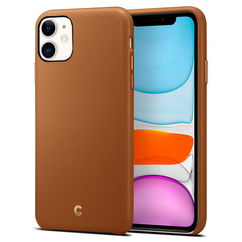 Funda De Cuero Premium iPhone 11, Marron Cyrill