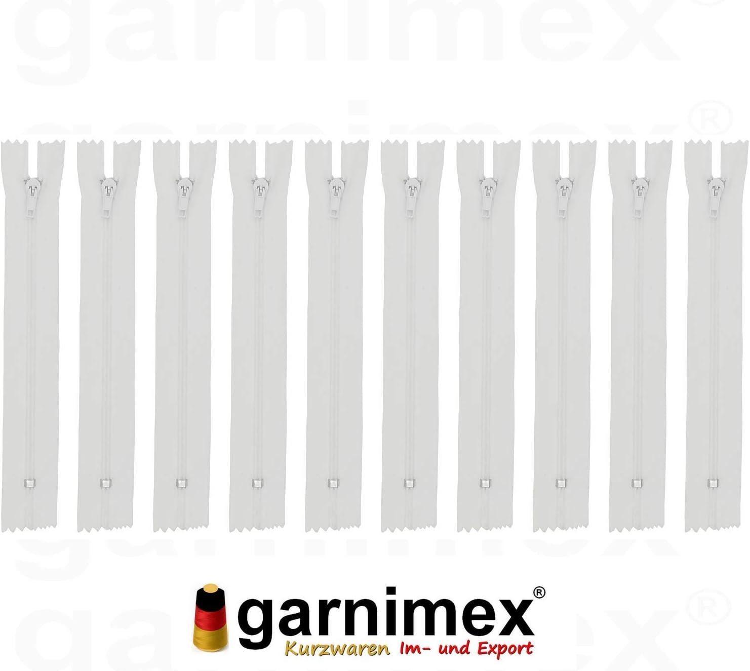 Garnimex Lot de 10 fermetures /Éclair Rose 35 cm x 10 pi/èces