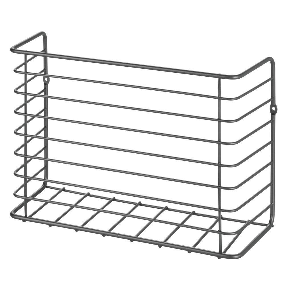 meuble de rangement cuisine accessoire de cuisine pratique gris mDesign pot ustensiles de cuisine /à suspendre en m/étal