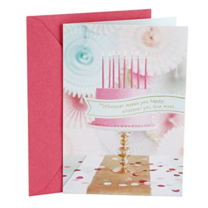 Amazon Hallmark Birthday Greeting Card For Her Fancy Cake Office Products