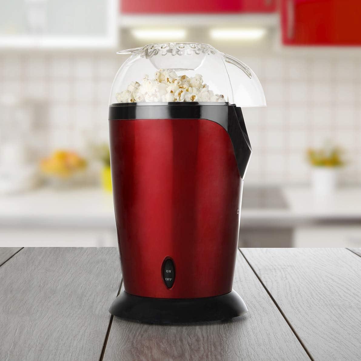 Orbegozo PA 4226 - Palomitero portátil, rojo y negro metalizado ...