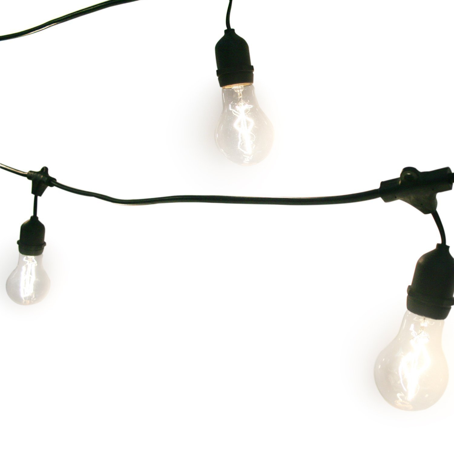48 ft outdoor string light with 15 edison style bulbs connectable waterproof 852678023771 ebay. Black Bedroom Furniture Sets. Home Design Ideas
