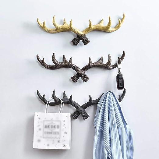 Xyanzi Vintage Antlers Wall Hooks, Hanger Rack W/Hooks Wall ...